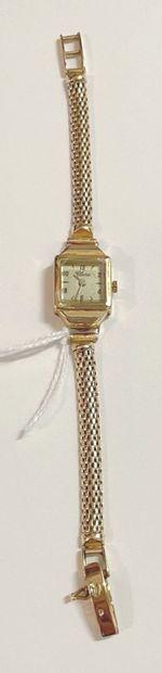 Lot comprenant : un bracelet montre de dame...