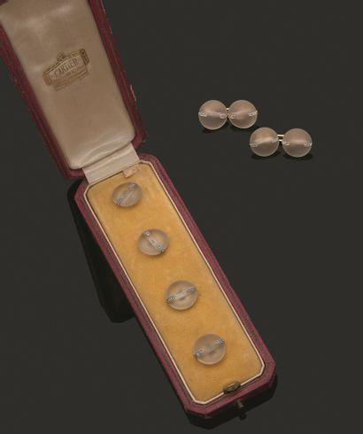 CARTIER  Parure comprenant quatre boutons...