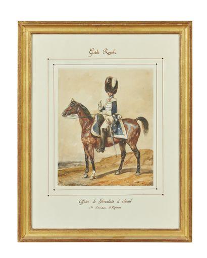 Eugène-Louis LAMI (1800-1890)  Garde Royale,...