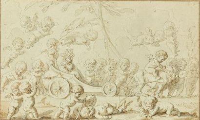 Louis-Félix de LA RUE (Paris 1720-1765)  Assemblée...