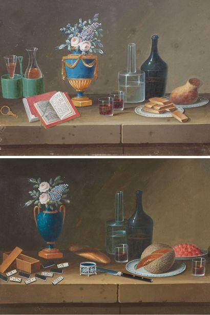 Johann Rudolf LELONG  Nature morte au vase...