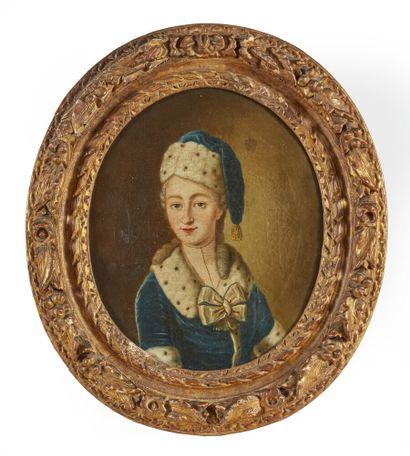 École française vers 1730  Portrait d'Elisabeth...