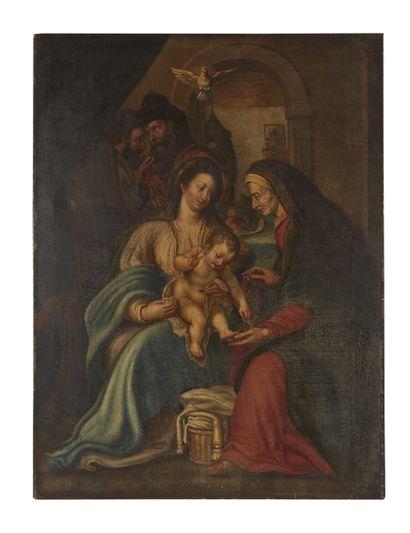 École allemande du XVIIe siècle  Vierge à...