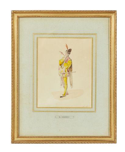 Horace VERNET (Paris 1789-1863)  Paire de...