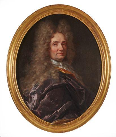 Entourage de Hyacinthe RIGAUD  Portrait présumé...