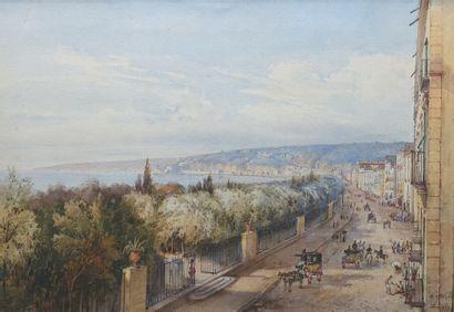 Giacinto GIGANTE (1806-1876)  Riviera di...