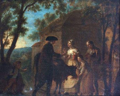 Attribuée à Étienne AUBRY (1745-1781)  L'Abbé...