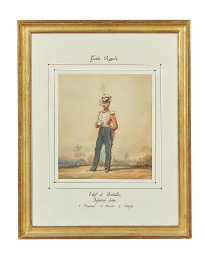 Eugène-Louis LAMI (1800-1890)  Chef de bataillon,...