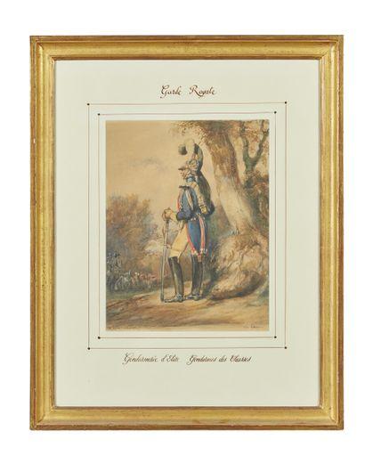 Eugène-Louis LAMI (1800-1890)  Garde Royale...