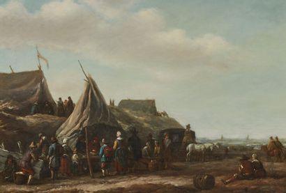 Barend GAEL (vers 1620-1687)  Un marché sur...