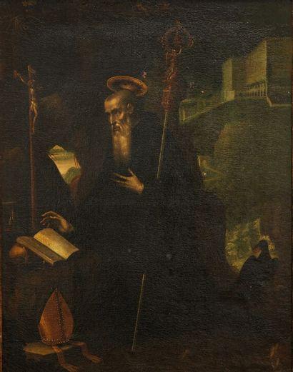 Attribuée à Jacopo LIGOZZI (1547-1627)  Saint...