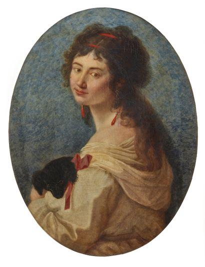 École turinoise vers 1800  Portrait de femme...