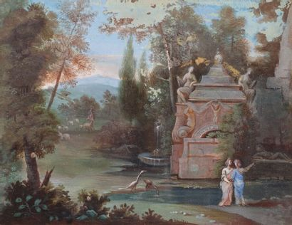 École française du XVIIIe siècle  Scène de...