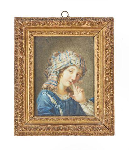 École italienne vers 1700  Portrait de femme...