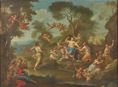 École romaine du XVIIIe siècle  L'Enlèvement...