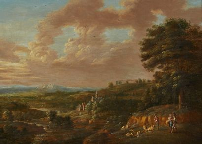 Lucas Van UDEN (1595-1672)  Bergers dans...