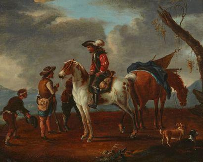 Suiveur d'Augustus QUERFURT  Cavaliers et...