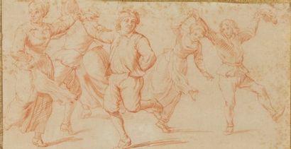 École flamande du XVIIIe siècle  La danse...