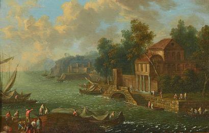 École flamande vers 1700, suiveur de GREVENBROECK...