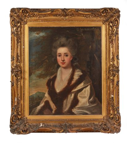 Attribuée à John HOPPNER (1758-1810)  Portrait...