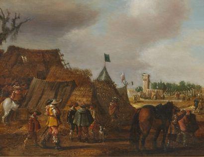 Joost Cornelisz DROCHSLOOT (1630-1673)  Campement...