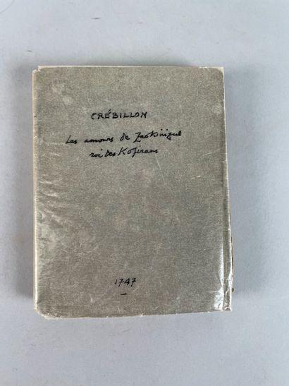 [CRÉBILLON Claude-Prosper Jolyot de]. Les...