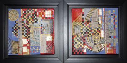 M.J. DE BROQUA (XXe siècle)  Deux toiles...