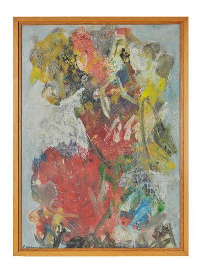 Pierre WEMAERE (1913-2010)  Composition  Toile,...