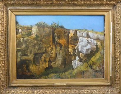 Dans le goût de Gustave COURBET  Paysage...