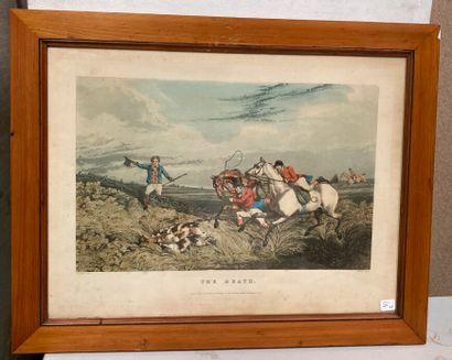 Trois gravures de chasse anglaises comprenant...