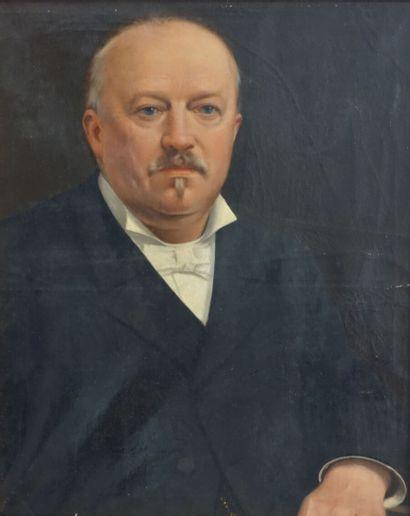 Auguste MOREAU-DESCHANVRES (1838-1913)  Portrait...