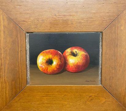 Nelly TRUMEL (1938)  Nature morte aux pommes...