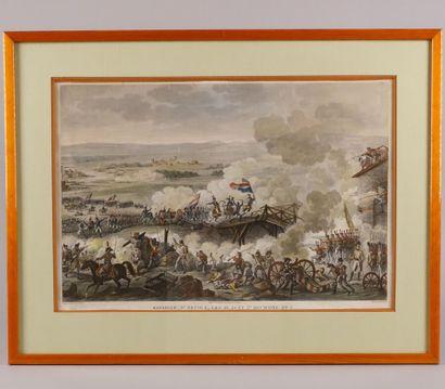 Gravure de la Bataille d'Arcole  Lithographie...