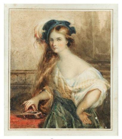 D'après Xavier SIGALON (1787-1837)  Jeune...