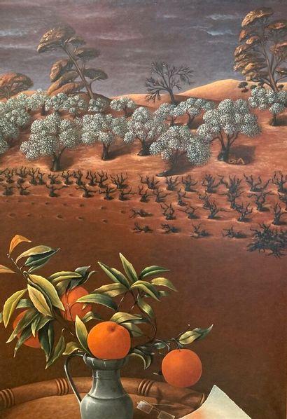 Janette CLAUDON (XXe siècle)  Bouquet d'oranges...