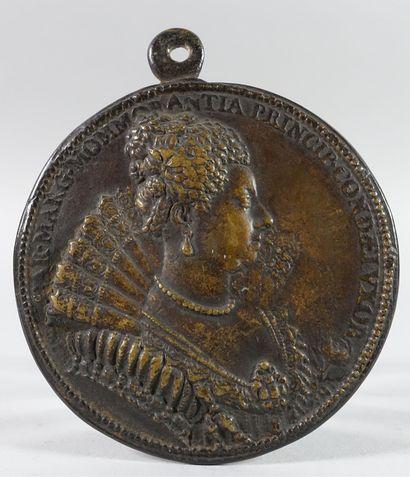 CHRISTINE de SAVOIE.  Médaille. Dupré. R./...