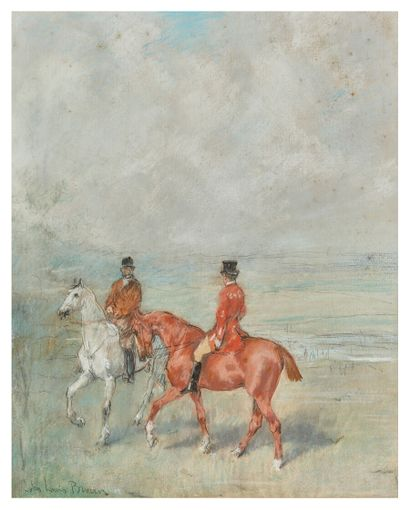 John LEWIS-BROWN (1829-1890)  Cavaliers sur...
