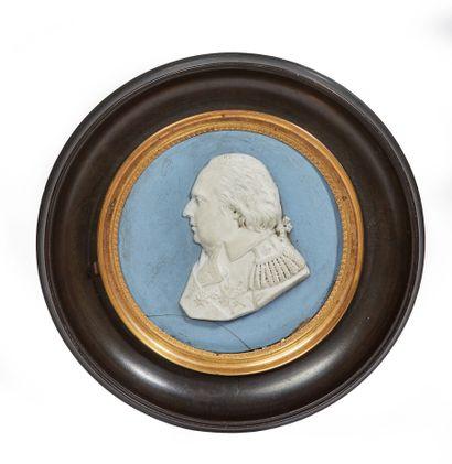 Profil du roi Louis XVIII  Biscuit, porte...