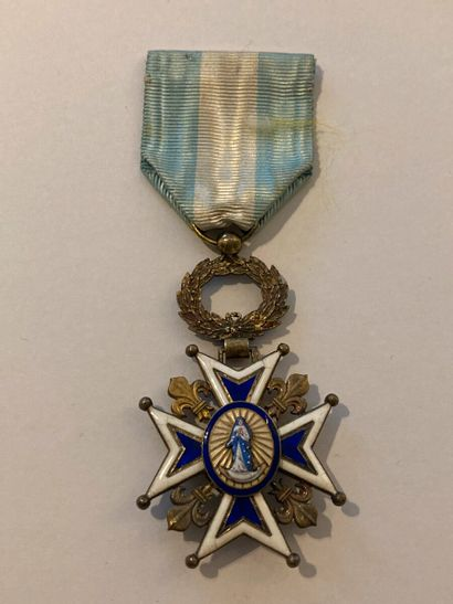 ESPAGNE  ORDRE DE CHARLES III  Croix de chevalier....