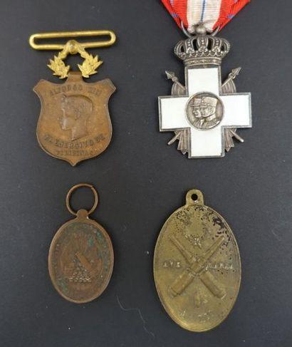 ESPAGNE - AMÉRIQUE DU SUD.  Quatre médailles...