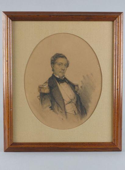 École française du XIXe siècle  « Portrait...