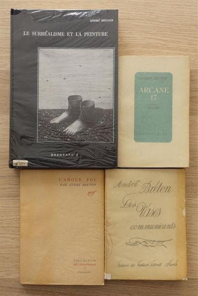 BRETON André. Réunion de quatre ouvrages....