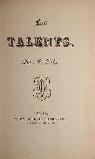BRÈS Jean-Pierre. Les Talents. Paris, Lefuel,...