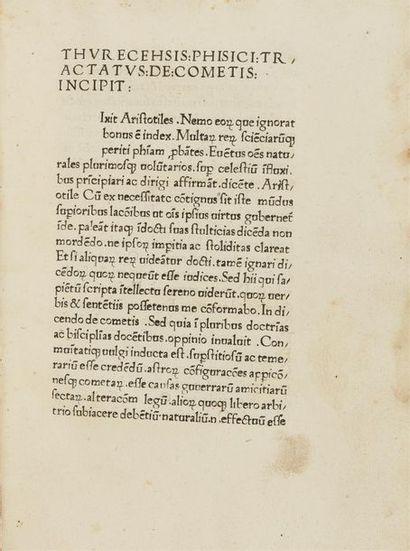 COMETIS, TRACTATUS DE. Venise, Hans Aurl,...