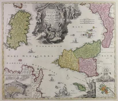 ATLAS. Johann-Baptiste HOMANN. Regnorum Siciliæ...