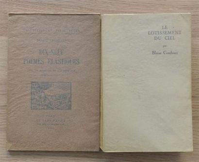CENDRARS Blaise. Dix-neuf poèmes élastiques....