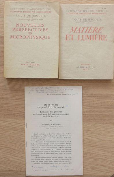 BROGLIE Louis de. Réunion de deux ouvrages,...