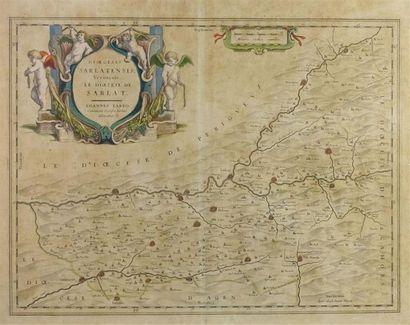 ATLAS. - Jean de TARDE. Le diocèse de Sarlat....