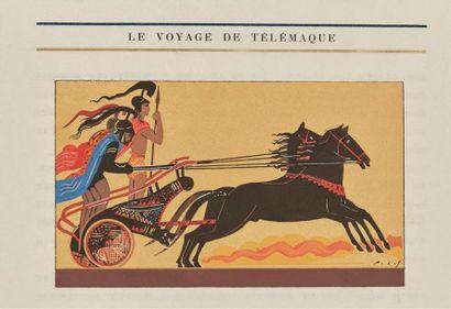 HOMÈRE. L'Odyssée. Traduction de Victor Bérard. Illustrations et décors de François-Louis...