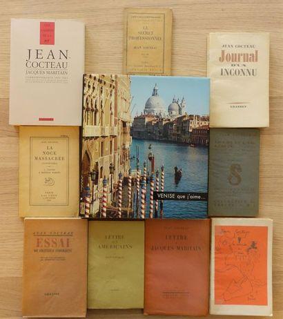COCTEAU Jean. Réunion de dix ouvrages. Ens....